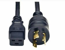 Lot of 4 extension cord J562N - C19 to L6-20P 12AWG 3 wire 20amp 200-250V 12ft