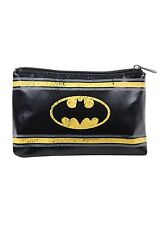 Dc Comics Batman Logo Athletic Style Cosmetic Make-Up Case Tote Bag Purse New
