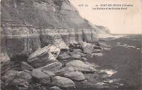 CPA 14 - PORT-EN-BESSIN - les rochers et les falaises d'aval