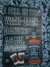 Jack Daniels I Fell In Love Metal Sign Plaque Man Cave Beer Pub Bar Garage Retro