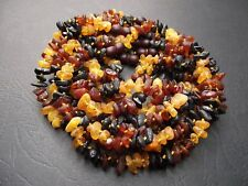 Lot 10 Natural Raw Baltic Amber Baby Necklace Mix (3+3) Color 30cm