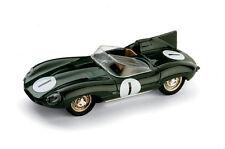 BRUMM 1:43 AUTO DIE CAST JAGUAR D TYPE LE MANS BIPOSTO N. 1 1956 VERDE ART R150