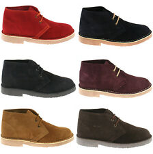 MENS ROAMERS SUEDE LEATHER DESERT BOOTS SIZE UK 3 - 15 CLASSIC ANKLE M467 KD