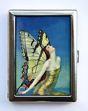 Art Deco Butterfly Women Cigarette Case id case Wallet Business Card Holder