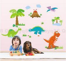 Dinosaur World Wall decal Removable stickers kids nursery decor home art mural
