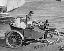 Photograph of US Post Office Harley Davidson Motorcycle  Year 1924  8x10