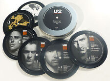 U2, 6 coasters in a tin. Popsters. Joshua Tree, Rattle and Hum, Boy, Bono, Edge