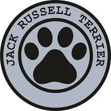1x Jack Russell Terrier Paw Print Seal Track Funny Sticker Dog Pet Decal Vinyl