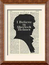 Impresión de arte-Sherlock Holmes-creo-Antiguo Libro página