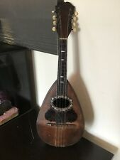 """More details for antique """"studente"""" napoli mandolin italian with mother of pearl inlay mandolin"""