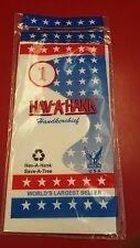 "Hav A Hank  White Cotton Handkerchief  15"" x 15"" MADE IN USA"