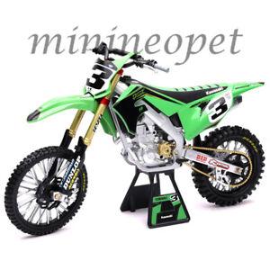 NEW RAY 49663 KAWASAI KX 450 #3 DIRT BIKE MOTORCYCLE 1/6 ELI TOMAC GREEN