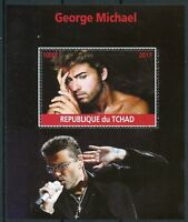 Chad 2017 CTO George Michael 1v M/S Pop Stars Music Celebrities Stamps
