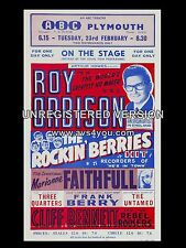 "Roy Orbison Plymouth ABC 16"" x 12"" Photo Repro Concert Poster"