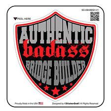 "AUTHENTIC BA BRIDGE BUILDER SHD V1 (3 Pack) Hard Hat Printed Sticker (size: 2"")"