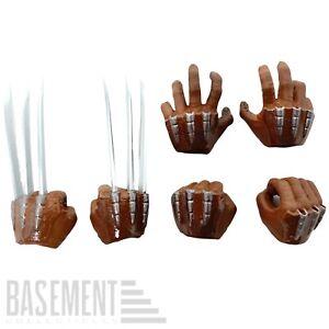 Mezco One:12 Wolverine - Six Interchangeable Brown Hands X-Men Marvel 1:12 Scale