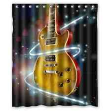 Custom Guitar Music Note Waterproof Polyester Fabric Shower Curtain 60 x 72