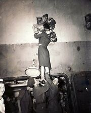 "Actress Marlene Dietrich kisses a Soldier Returning Home 8""x 10"" WW2 Photo 550"
