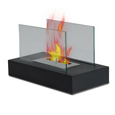 Ventless Tabletop Bio Ethanol Fireplace Firebox Heater - Eco Friendly BLACK