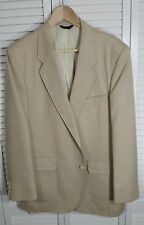Austin Manor Mens Linen Blend Wheat Colored Two Button Jacket Sport Coat 42R