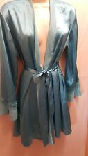 Delicates Polyester Robe WOmens Size Small (Med Large) Aqua Blue Lingerie Robe