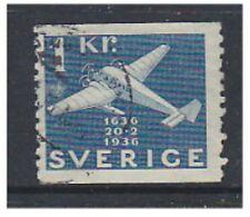 Sweden - 1936, 1k Seaplane stamp - G/U - SG 199 (a)