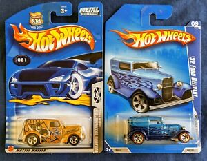 S32-2008 Hot Wheels All Stars '32 Ford Delivery w/redlines & Buccaneers Panel