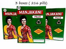 The Manjakani Pills Oak Gall - 3 boxes ( 216 pills) Original From Indonesia