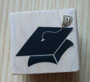 Stampabilties ~ D1176 Graduation Cap Rubber Stamp  ~ V12