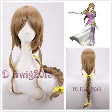 The Legend of Zelda: Twilight Princess 80cm long brown Cosplay Wig +a wig cap