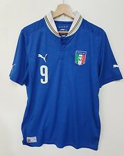 Maglia calcio Italia Puma vintage shirt camiseta soccer Italia Puma N9 Balotelli