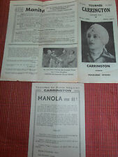 magie - programme tournée CARRINGTON   ( ref 19 )