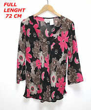 THE MASAI CLOTHING CO  WOMAN LADIES TOP SHIRT SIZE S LONG SLEEVE MULTICOLOR
