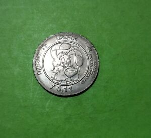 Nutella 5c token Idefix (Dogmatix from Asterix the Gaul series), 31mm
