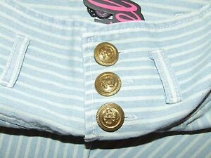 Motel - Quirky Sailor Women's Blue & White Striped Jeans Size Small NWT