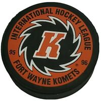 1995-96 FORT WAYNE KOMETS  IHL VINTAGE OFFICIAL HOCKEY PUCK BY PUCK 🌎 🇨🇿