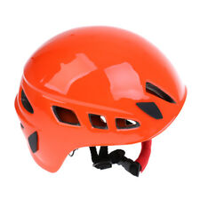 Unisex Rock Climbing Helmet Head Protect Safety Hiking Caving Roofing Orange