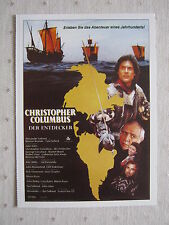 Filmplakatkarte  cinema  Christopher Columbus - Der Entdecker  G.Corraface