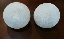 2 Light Globe Vintage Glass Shade Ceiling Lamp Fixtures Cover White Bubble Round
