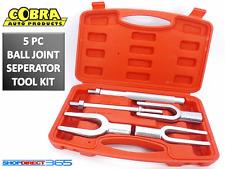 5pc Tie Rod Ball Joint Remover Kit Pitman Arm Splitter Separator Fork 15-44