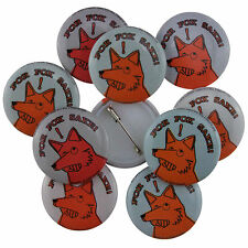10 x 25mm For Fox Sake! Novelty Button Badges Wholesale Price