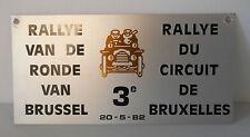 """3"""" rally van de ronde bruxelles 1982 targa in metallo, rara"""