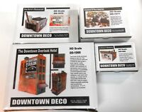 Downtown Deco HO Scale 3 Building Kits Special. Save $70 + Free Bonuses!