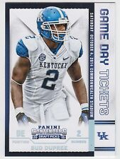BUD DUPREE 2015 Panini Contenders Draft Picks Game Day Tickets #53 Wildcats