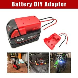 Battery Adapter For Milwaukee M18 Battery XC 18V To Dock Power DIY 2 Wire Output