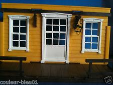 PLAYMOBIL Western -cadre blanc+fenêtre pour maison ancienne (façade non)