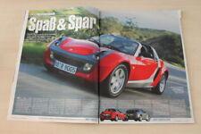 Auto Bild 15654) Smart Roadster mit 82PS im ersten Fahrbericht auf 4 Seiten
