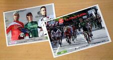 cyclisme - Lot 2 cartes photo course La Route Adélie 2014 - Bryan COQUARD