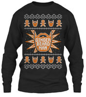 Ginger Beard Ugly Christmas Sweater - Man Gildan Long Sleeve Tee T-Shirt