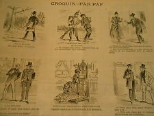 Vignettes 1888 Le Prie Dieu Téléphonique pour confessions Caricature
